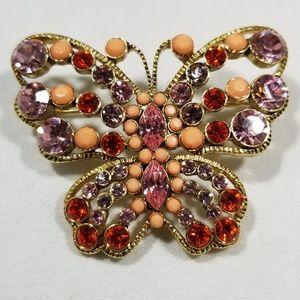 Vintage custom brooch pin jewelry animal butterfly